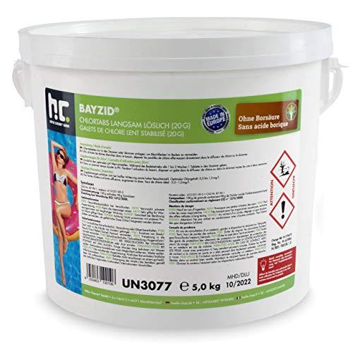 Höfer Chemie Pool Chlor Tabletten 20g 1 x 5 kg BAYZID dauerhaften Chlorung von Pool und Schwimmbad -...