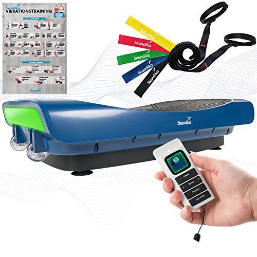 skandika 4D Vibrationsplatte V3000 | Vibration Plate im Curved Design mit Smart LED Technologie,...