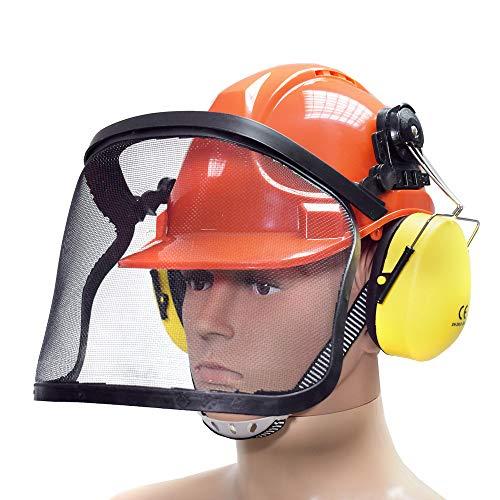 BITUXX® Forstschutzhelm Arbeitsschutzhelm Sicherheitshelm Helm Bauhelm Schutzhelm mit Visier Gesichtsschutz...