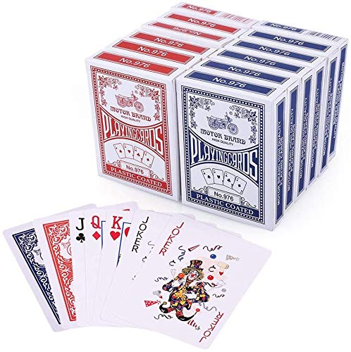 LotFancy Spielkarten 12X Pokerkarten Poker Set Playing Cards Standard, Top Qualität Profi für Texas Holdem...