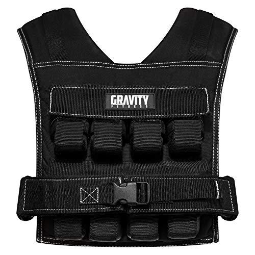 Gravity Fitness   Gewichtsweste, 20 kg, voll verstellbar. Für Calisthenics, Crossfit, Krafttraining, Heim-...