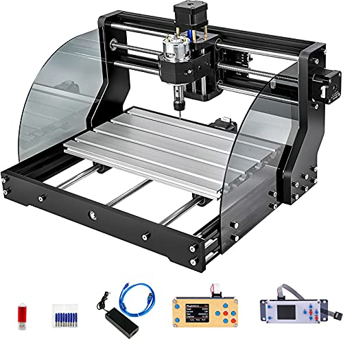 VEVOR CNC Mini Graviermaschine Drechselbank 3018 Pro Max Fräsmaschine 10000RPM 3 Achsen GRBL Steuerung DC 24...