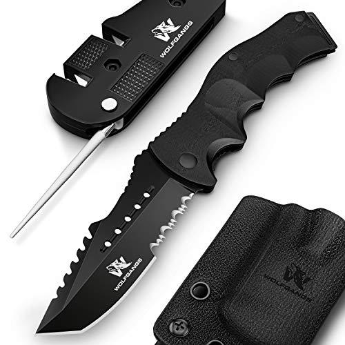 Wolfgangs UNDIQUE Zweihand-Messer Set aus 440C Stahl - LEGAL in Deutschland zu führen - Survival-Messer mit...