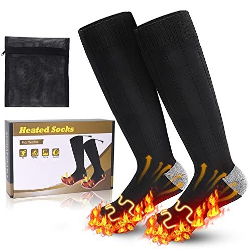 Vanten Beheizte Socken, 4000mAh Beheizbare Socken 3 Heizstufen Beheizte Socken für Herren Damen mit...