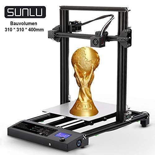 SUNLU 3D Drucker Schnelle Montage DIY Kit, 3D- Drucker Druckgröße 310x310x400 mm, Filament Ende Detektor und...