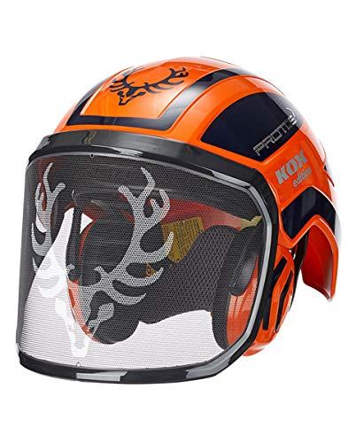 Protos Integral Forest Kopfschutz-Kombination, KOX Edition Orange/Blau. Ohne Kinnriemen