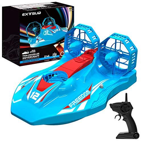 EXTSUD Hovercraft Kinderspielzeug, 2-in-1 Rennboot und Racing 2,4GHz ferngesteuertes Boot Wasserdichtes...