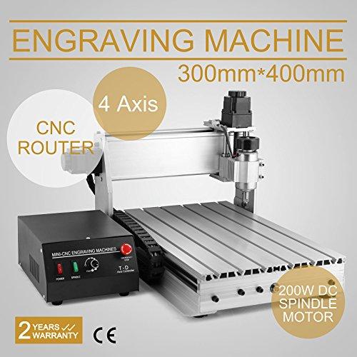 FurMune CNC Fräsmaschine Fräs Graviergerät CNC Router Machine Engraver Machine 3040T 4 Achsigen Einfache...