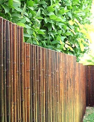 DE-COmmerce Robuster Bambus Holz Sicht Schutz Zaun ATY NIGRA hochwertiger Windschutz Terrasse, Balkon, Garten...