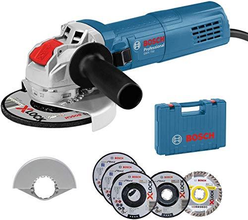 Bosch Professional Winkelschleifer GWX 750-125 (Scheiben-Ø 125 mm, inkl. 5tlg. Trenn- und Schruppscheiben...