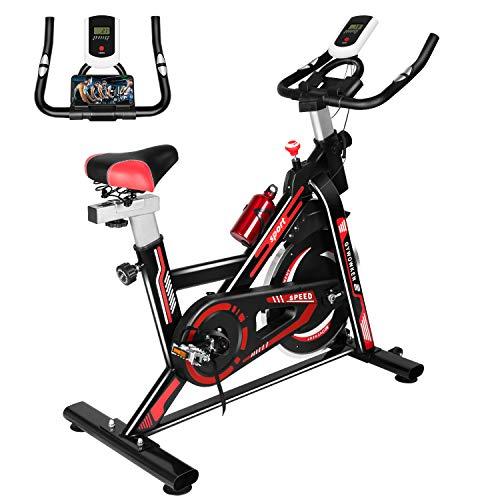 Gywowken Heimtrainer Fahrrad, 8kg Schwungrad Ergometer Heimtrainer, Indoor Cycling Bike, Spinning Bikes Indoor...