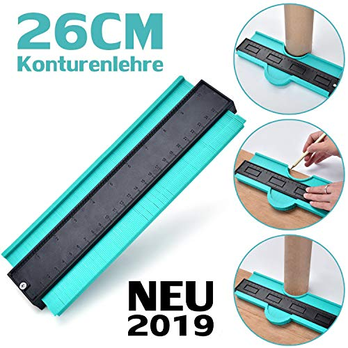Konturenlehre 10''/260MM | Fliesen Laminat Duplikator Wickelrohre Holzarbeitung Markierungswerkzeug | Profil...
