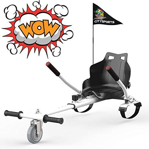 GEARSTONE Hoverkart für Hover Board, Sitzscooter Gokart hovercart, Sitz für Self Balancing Scooter, passt...
