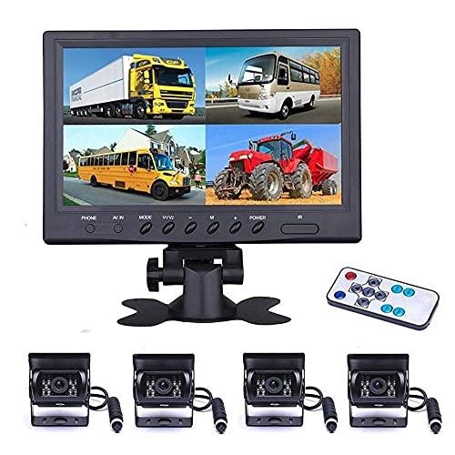 Fahrzeug Backup Kamera – camecho 22,9 cm 4 Geteilte Monitor Vorderseite View, Kamera 18 IR-Nachtsicht...