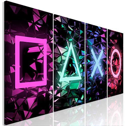murando - Bilder für Gamers Spielkonsole 160x60 cm Vlies Leinwandbild 4 Teilig Kunstdruck modern Wandbilder...