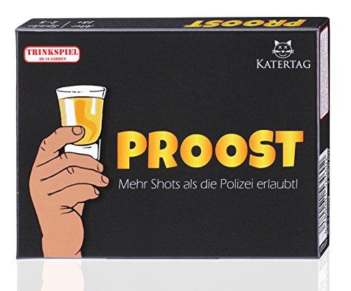 Katertag Trinkspiel - PROOST - Mehr Shots als die Polizei erlaubt - Partyspiel für Erwachsene ab 18 -...