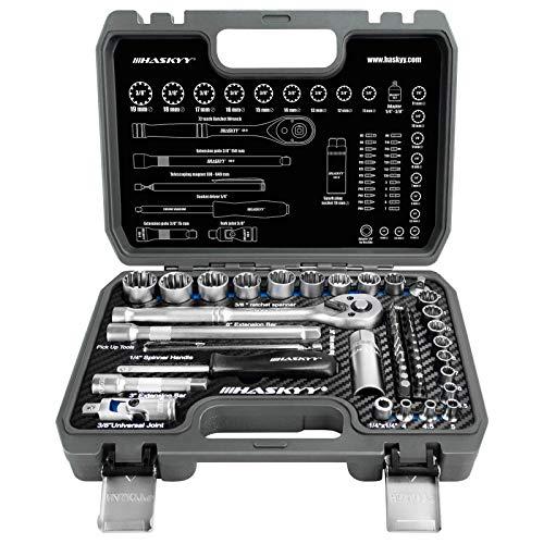 52tlg Vielzahn Zoll TORX Gear Lock Profil XZN E-Profil Steckschlüssel Set 12-Kant 6-Kant - Harley - Zöllisch...