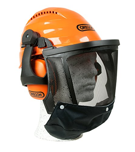 Oregon Waipoua Professioneller Kettensägen-Sicherheitshelm mit Gehörschutzmanschette und Netzvisier,...