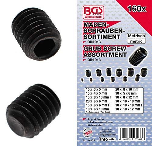 BGS 14135 | Madenschrauben-Sortiment | 160-tlg