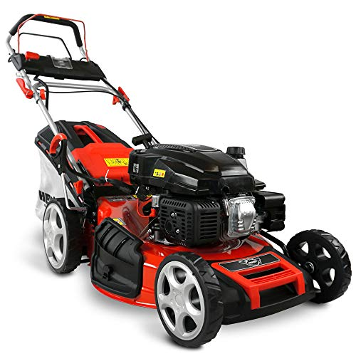 HECHT 5-IN-1 Benzin Rasenmäher – leistungsstarker 4 Takt Eco Motor 4,4 kW (6,0 PS) – Elektrostart – 53...