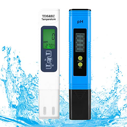 FEMOR pH Messgerät TDS Messgerät EC & Temperatur Messgerät 4 in 1 Wasserqualität Tester(ATC) für Aquarium...
