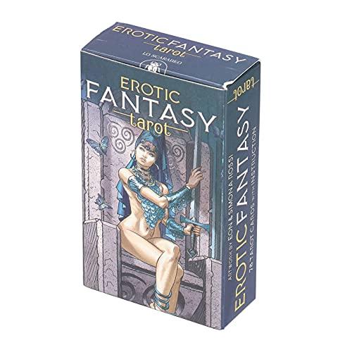 78 Tarotkarten Deck, Fantasy Tarot Deck Wahrsagen Spielkarten Interaktionspapier Tarotkarten Brettspiel Future...