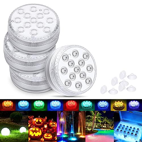 Magicfun Unterwasser Licht, Wasserdichtes LED Licht, RGB 13 mehrfarbige LED mit RF-Fernbedienung , Timer,...