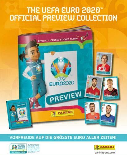 Euro 2020 Panini Sticker Preview - Sammelsticker -komplett Set alle 568 Sticker + Leeralbum zusätzlich 1 x...