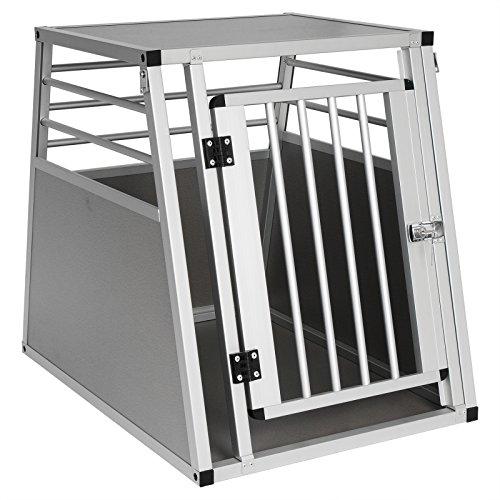 EUGAD Hundetransportbox Alu Hundebox Autobox Reisebox für mittlere Hund Border Collie Englische Bulldogge...