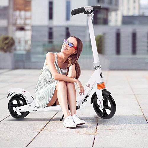 Hesyovy Leicht Scooter T-Style Stabile, aus Aluminiumlegierung, Klappbar und Höhenverstellbar, Big Wheel...