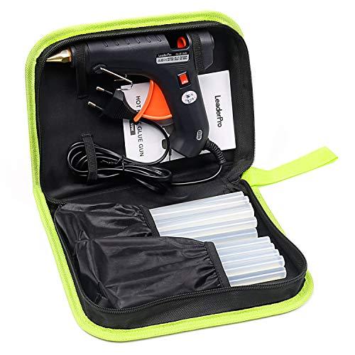 LeaderPro Klebepistole 60W volle größe mit 11mm x 190mm x 20 Kleber Sticks und Werkzeugstasche...