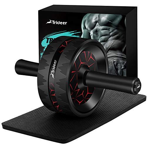 Trideer bauchtrainer ab Roller, Bauchroller, bauchmuskeltrainer ab Wheel Set, mit Rutschfester, inkl. gut...