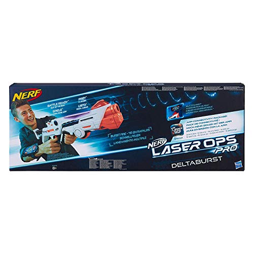 Nerf Laser Ops Pro DeltaBurst, LaserTag-Blaster inkl. Licht- & Soundeffekt, mit LCD Display und Infrarot...