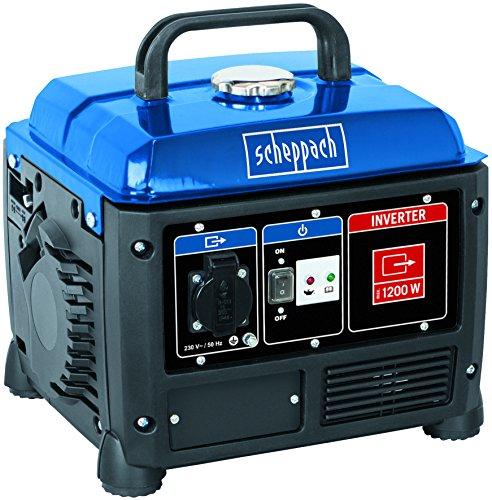 Scheppach Inverter Stromerzeuger 1200W (Notstromaggregat mit 5h Laufleistung, 4,2L Tank) - 230V Anschluss...