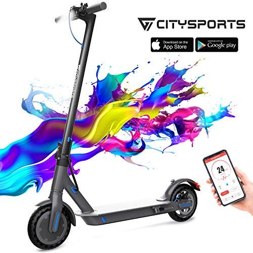 CITYSPORTS Elektroroller 8,5 Zoll, E-scooter Faltbarer Roller mit APP & Bluetooth, Akku 7,5 Ah Langlebig, 350...