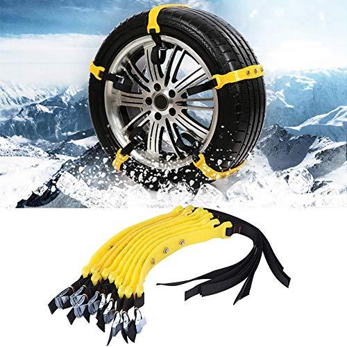 Skiesoar Schneeketten für Autoreifen, 185–225mm, universal, für verbreiterte Reifen, Schneeketten,...