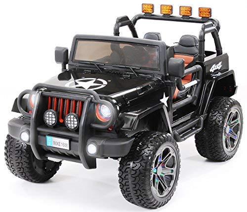 Actionbikes Motors Kinder Elektroauto Jeep Wrangler Offroad - 4x4 Allrad - USB - Sd Karte - 4 x 35 Watt Motor...