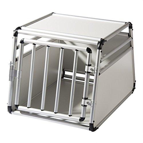 EUGAD Hundetransportbox Alu Hundebox Reisebox Autobox für kleine/mittlere Hunde Französische Bulldogge...