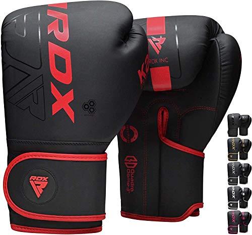 RDX Boxhandschuhe für Muay Thai und Training, Maya Hide Leder Kara Punchinghandschuhe für Kampfsport, Kick...