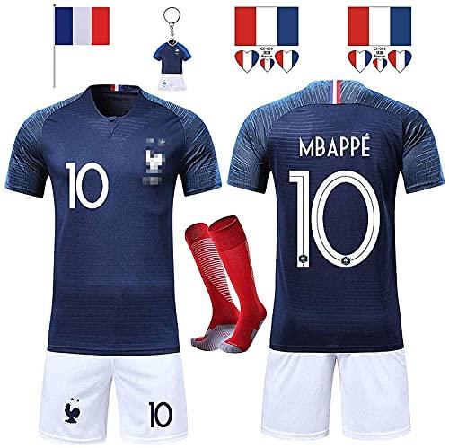 Rongli Fußball-Trikots, 2 Sterne, Fußballkleidung mit Socken und Zubehör, Fußballhemd für Männer und...