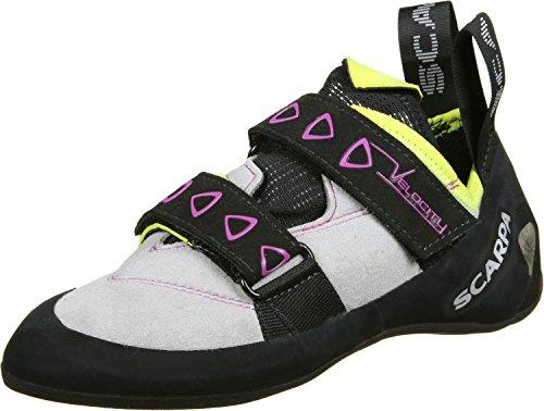 Scarpa Velocity Kletterschuhe Damen LightGray/Yellow Schuhgröße EU 41,5 2019 Boulderschuhe