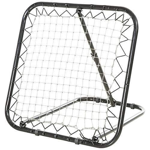 HOMCOM Baseball Rebounder Kickback Tor Rückprallwand Netz Rückprall Faltbar Metall+PE Schwarz 78 x 84 x 75...