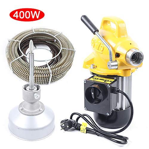 RANZIX 20-100mm Rohrreinigungsmaschine 400 Watt Rohrreinigungsgerät 22.5mx16mm Spirale Rohr-Reiniger...