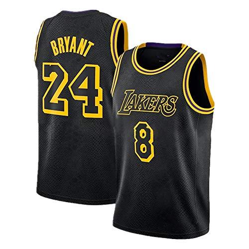 Schwarzes Mamba Kobe Herren Basketball Trikot, Lakers # 8N # 24 Swingman Unisex Basketball Trikot Hip Hop...
