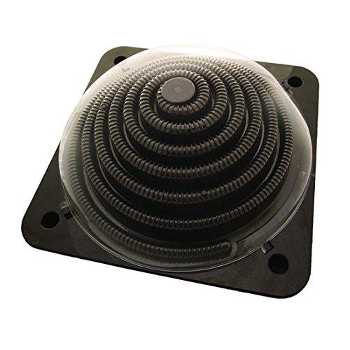 Solar Heizung Dome Pool 5 Liter, für Pools bis 7000 Liter, schwarz, 57cm x 57cm, Poolheizung Solarheizung...