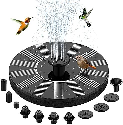 BAONUOR Solar Springbrunnen 2021 Upgrade, Solar Teichpumpe mit 11 Effekte Solar Wasserpumpe Solar schwimmender...