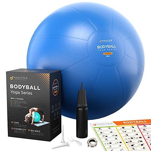 Gymnastikball | Pilates Ball | Sitzball Büro - 45cm / 55cm / 65cm Geburtsball für Schwangerschaft, Balance,...