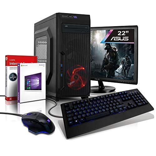 Komplett PC Entry Gaming/Multimedia 10-Kern (4C+6G) Computer mit 3 Jahren Garantie! | AMD A10 9700 Quad 3.8...