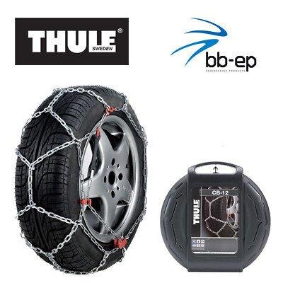 Schneekette THULE CB-12 PKW für die Reifengröße 175/65 R14 Preis-Leistungs-Sieger (1 Satz - 2 Stück...