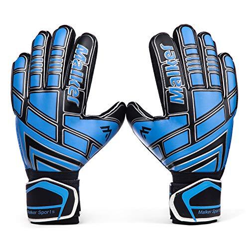 Malker Torwarthandschuhe Fußball Handschuhe für Erwachsene und Jugend Kinder mit Fingerschutz, Stärken...